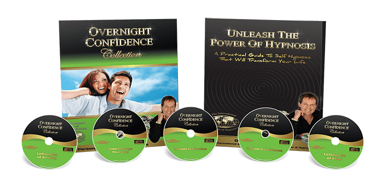 Overnight Confidence collection pack image with 5 cds & workbook