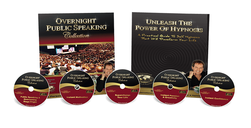 Overnight public speaking collection pack image with 5 cds & workbook