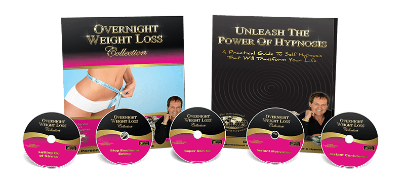 Overnight weight loss collection pack image with 5 cds & workbook