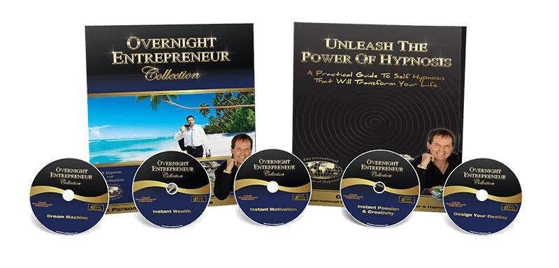 Overnight Entrepreneur collection pack image with 5 cds & workbook